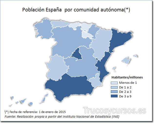 Excel: Mapa de España tipo coropletas