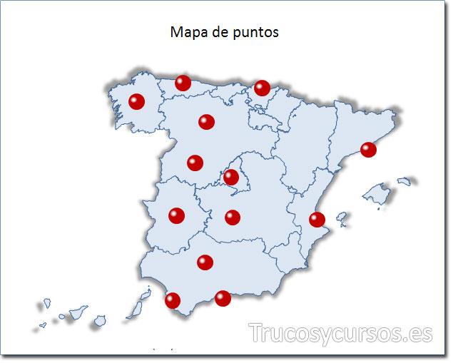 Excel: Mapa de España tipo puntos