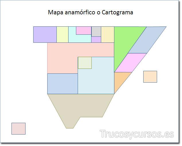 Excel: Mapa de España tipo anamórfico o cartograma