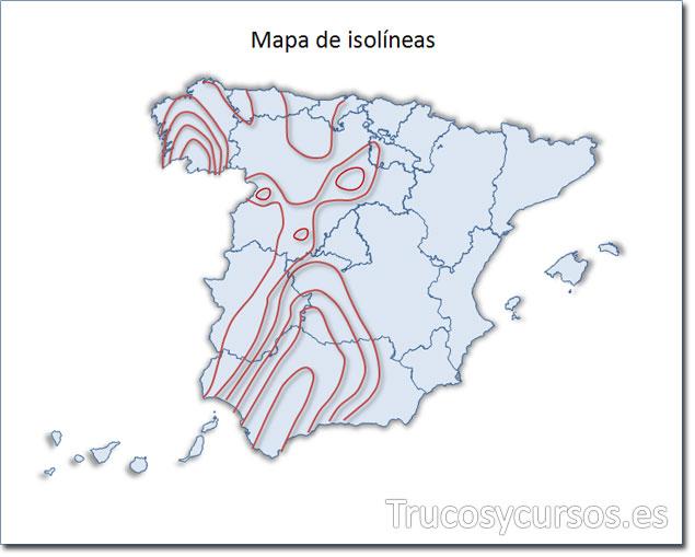 Excel: Mapa de España tipo isolíneas