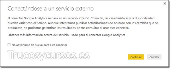 Power BI con Google Analytics: Conectándose a un servicio externo.