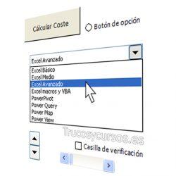 Los controles de formulario en Excel