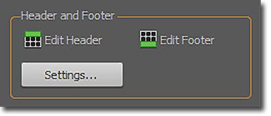 PDF Converter: Panel de PDF a Excel, área de Encabezado y pie de página