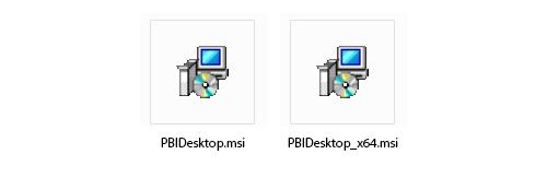 Archivo PBIDesktop para 32 y 64 bits