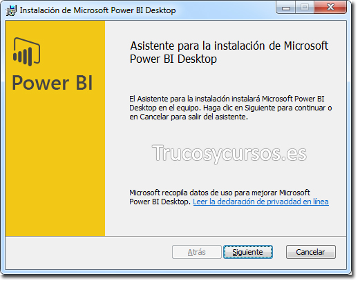 Asistente Power BI Desktop: Comenzar con el asistente