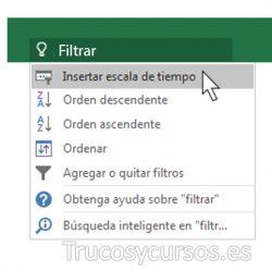 ¿ Qué desea hacer ? en Excel