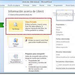 Eliminar certificados digitales o firmas digitales en Excel
