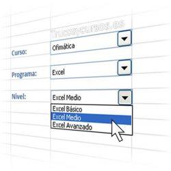 Listas desplegables anidadas dependientes en Excel