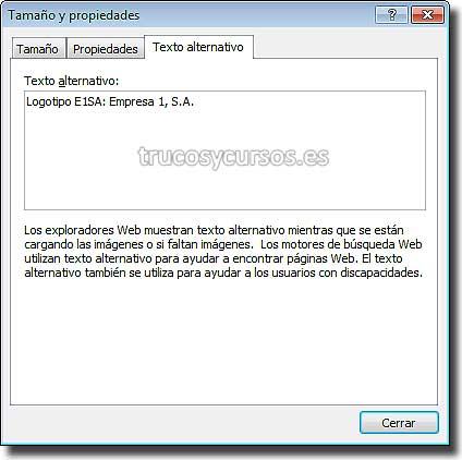 Ventana Excel 2007: Tamaño y propiedades