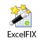 Logotipo de programa ExcelFIX. Recuperar los archivos dañados de Excel