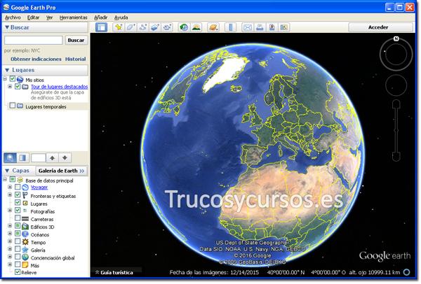 Vista previa de Google Earth pro con los datos importados