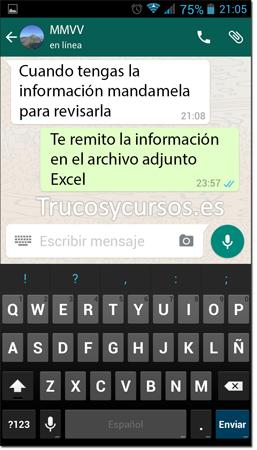Ventana Whatsapp de contactos