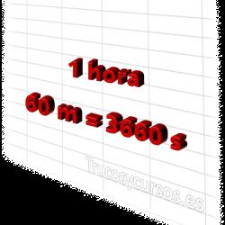 Convertir horas en minutos y segundos en Excel