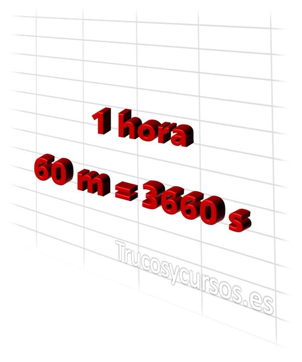 Hoja Excel: Convertir horas en minutos y segundos en Excel