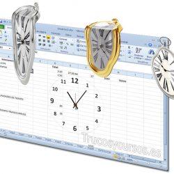 Sumar o restar tiempo: horas, minutos y segundos en Excel