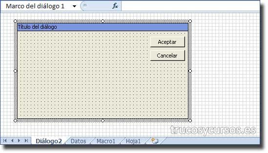Hoja de diálogo Excel 5.0: Hoja de diálogo, apertura predeterminada