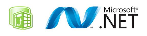 Logotipo de PowerPivot y Microsoft .NET Framework