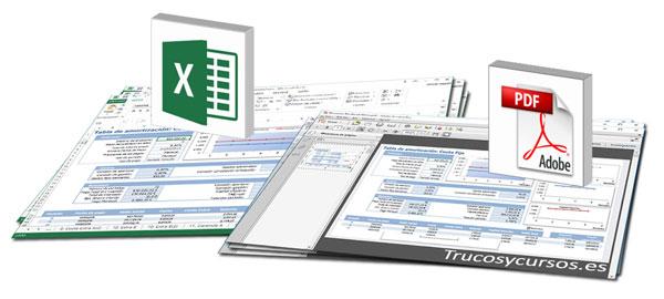 Crear archivo pdf de libro Excel como PDF/A