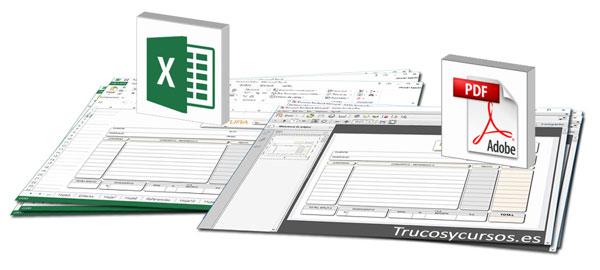 Crear archivo pdf de libro Excel como PDF/X
