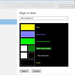 Accesibilidad Excel con alto contraste
