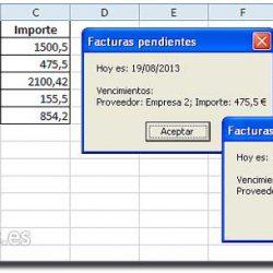 Fecha de vencimiento con macro Excel
