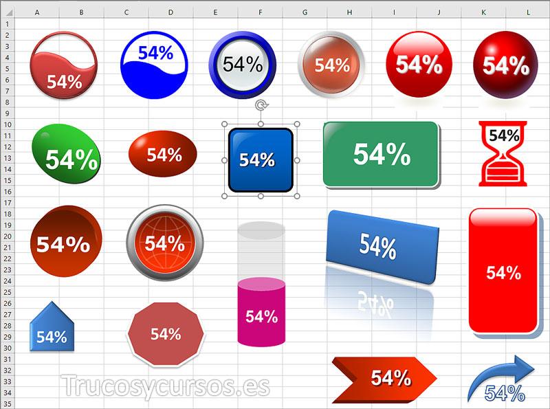 Sacar provecho a las formas en Excel. Formas básicas