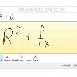 Escribir ecuaciones con entrada de lápiz