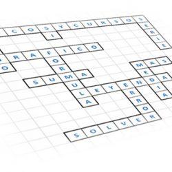 Rellena el crucigrama de palabras cruzadas sobre Excel