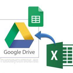 Importar un archivo Excel en Hoja de cálculo Google