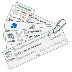 Mostrar la pestaña Desarrollador o Programador en Excel
