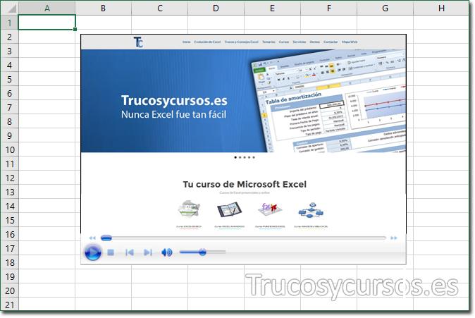 Insertar un vídeo en Excel