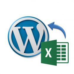 Insertar un archivo Excel en Wordpress