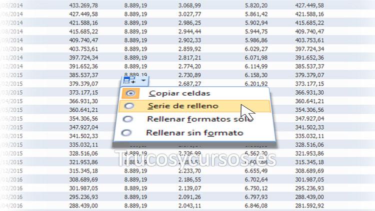 Los botones de opciones en Excel