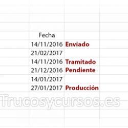 Vencimiento de fechas 30, 60 y 90 días en Excel