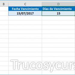 Remarcar vencimiento de fechas en Excel