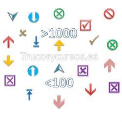 Insertar símbolos según el valor en Excel