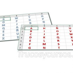 Aplicar relleno con letras del alfabeto en Excel