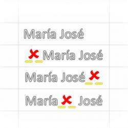 Evitar insertar espacios en una celda Excel