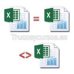 Comparar hojas de diferentes libros Excel