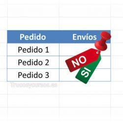 Permitir escribir Si o No en una celda Excel
