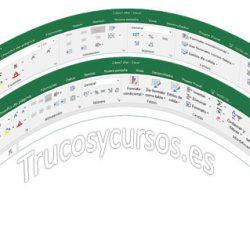 Entorno Excel mouse o táctil