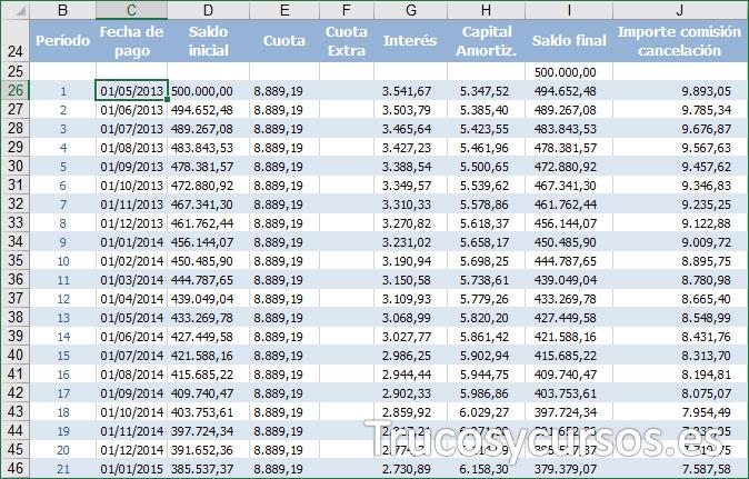 Hoja Excel con origen de datos externo