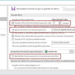 Crear automáticamente un archivo de recuperación en Excel