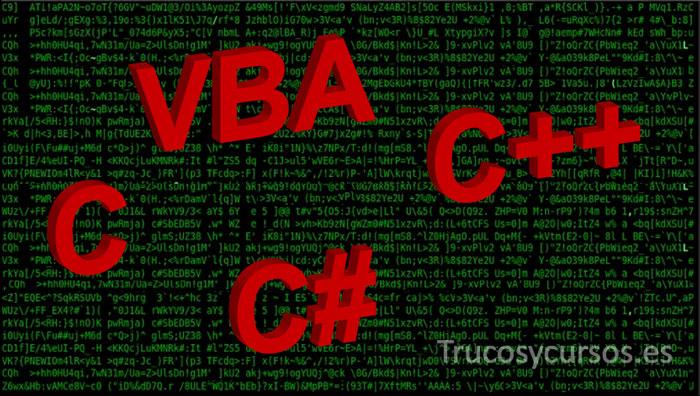 Macros Excel con lenguaje vba, C, C++, o C#