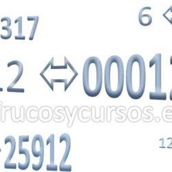 Formato para rellenar con ceros números a la izquierda en Excel