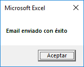 Mensaje de confirmación email enviado con éxito