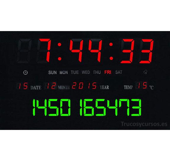 Convertir fechas tiempo UNIX (POSIX) en fechas Excel
