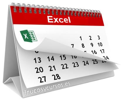 Tiempo transcurrido en días, meses y años en Excel