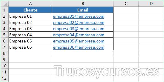 Hoja Excel con origen de datos a buscar