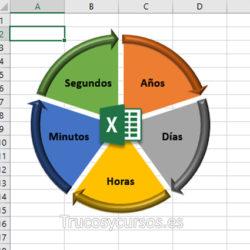 Convertir unidades de tiempo en Excel, horas, minutos, segundos